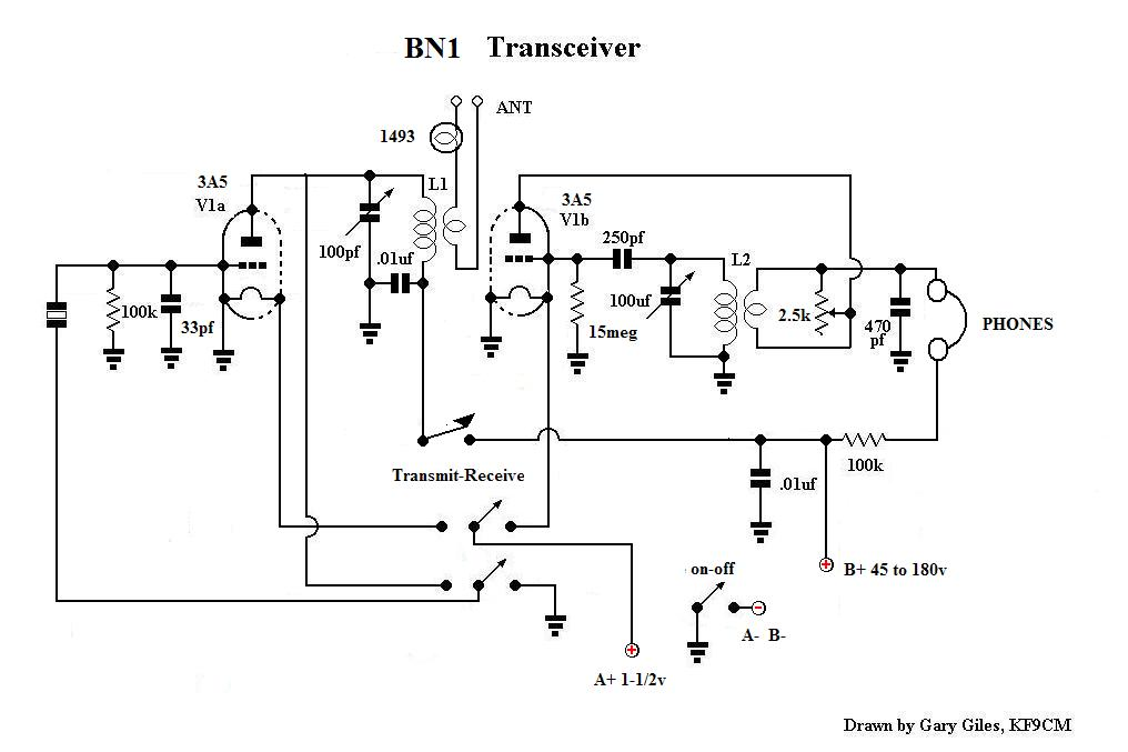 Pp on one tube receiver circuit